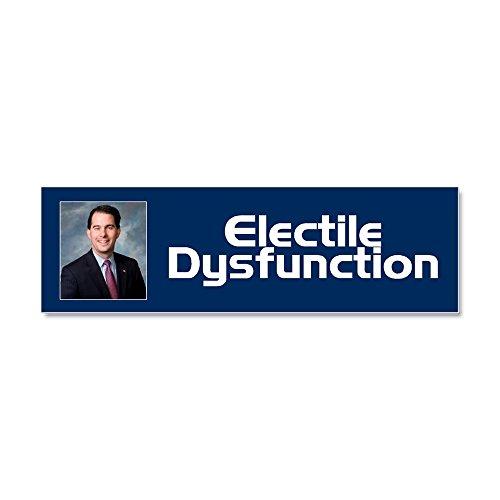CafePress - Electile Dysfunction Car Magnet 10 x 3 - Car Magnet 10 x 3, Magnetic Bumper Sticker