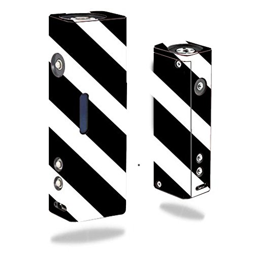 Decal Sticker Skin WRAP - Hana Modz V4S DNA 40 Single - Diagonal Black & White Stripes Design