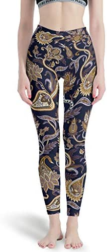 RQPPY Muster Pflanzenmuster Pflanze Hohe Taille Workout Tights für Laufen