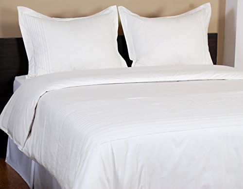 Textrade USA 3 Piece Ballard Duvet Set with King Shams, King Ballard White Headboard