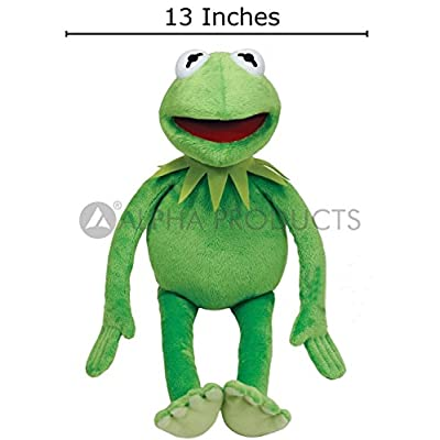 Alpha Products Kermit The Frog Doll - Medium Size (16 inch Length) Soft Plush Stuffed Doll - Green (Emerald) Color: Toys & Games