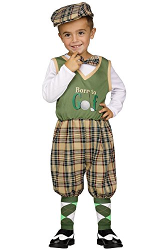 Golfer Costume 2t (Retro Li'l Golfer Boys Toddler Costume)