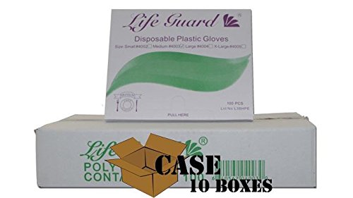 Poly Gloves - Plastic, Polyethylene Disposable Gloves - Case Size Small