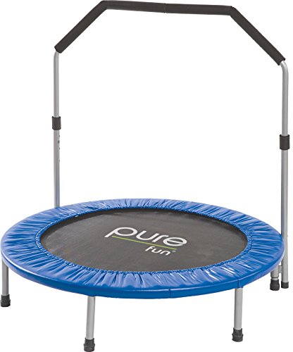 "40"" Trampolines Mini Rebounder With Adjustable Handrail"