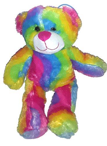 (15 Inch Rainbow Bear Colorful Plush Teddy Bear Stuffed Animal)