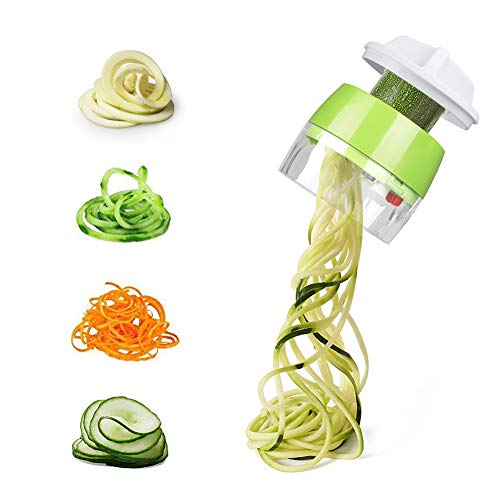 Carry360 Handheld Vegetable Spiralizer, Spiralizer Vegetable Slicer - Veggie Spiral Slicer Cutter for Noodle Maker Pasta Zucchini Spiral ()