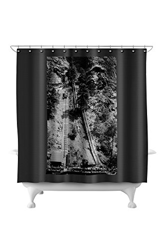 Cheyenne Drapes (Colorado Springs, Colorado - Eagle's Nest, South Cheyenne Canyon Tram Photograph (71x74 Polyester Shower Curtain))