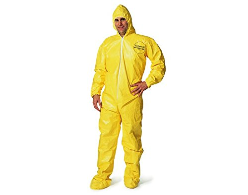 Dupont Safespec QC127S YL Yellow XL Tychem QC Chemical-Resistant Coveralls - Fits 27 1/4 in Chest - 29 in Inseam - QC127S XL [PRICE is per PAIR] by DuPont