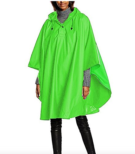 Charles River Apparel Unisex Adult Pacific Poncho One Size Neon Green