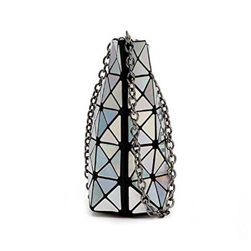 Paquete De Mano Bolsa De Hombro Geométrica De Las Mujeres Silver