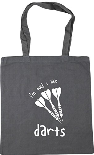 x38cm Graphite Tote Gym Shopping Bag I'm HippoWarehouse Beach Darts litres 10 Told 42cm I Grey Like HxqPC