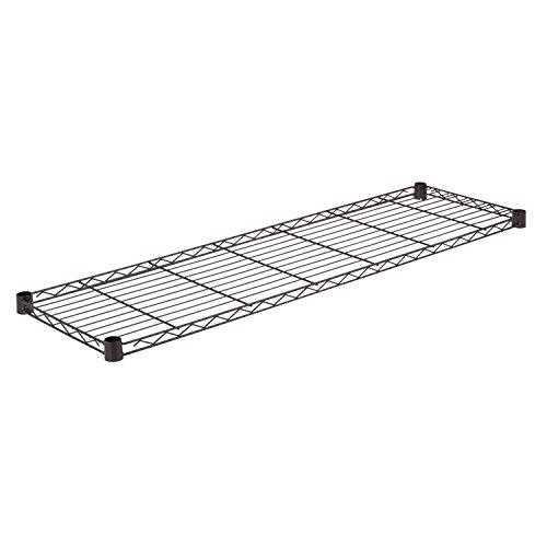 Honey-Can-Do SHF350B1448 Steel Wire Shelf for Urban Shelving Units, 350lbs Capacity, Black, 14Lx48W
