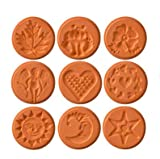 Product review for JBK Pottery Unique Cookie Stamps, Set of 9