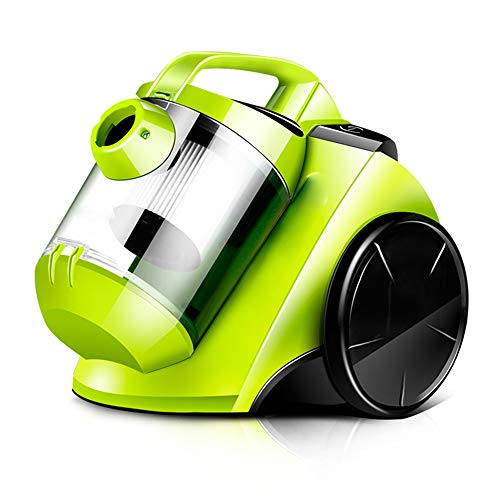 TQZY Compact Cyclonic Bagless Cylinder Vacuum Cleaner, Washable Dust Box, Powerful Lightweight Corded 1200W Vacuum Cleaner for Multi-Floors and Carpets(Green)