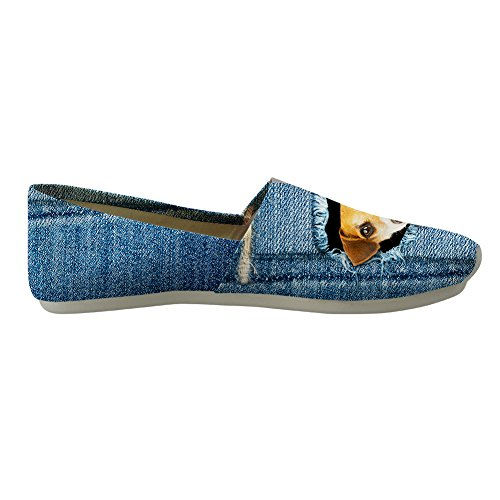 denim 10 Cowboy Sizes dog 6 Shoes Slip 1 Espadrilles Cat US Nopersonality On Pumps Canvas Womens OxWz7xnT