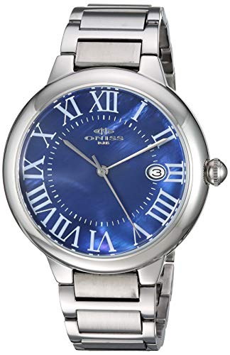 Adee Kaye Men's Japanese Automatic Stainless Steel Watch, Color:Silver-Toned (Model: ON2222-MBU)