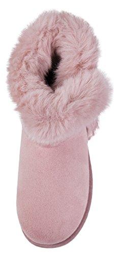 Lora Dora gamuza Luxury color sintética Botas Girls de de rosa rr1Hdqw