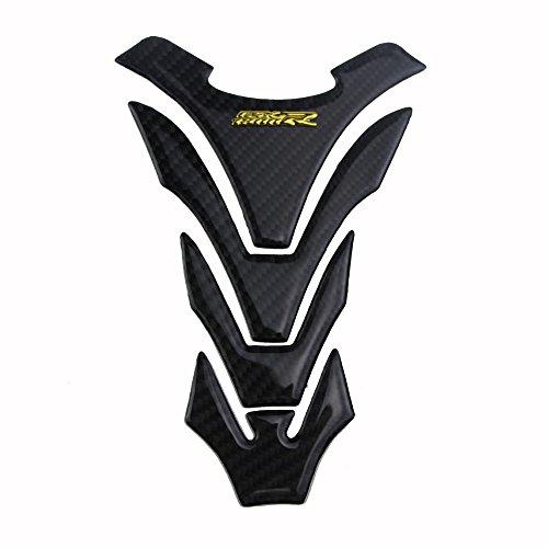 PRO-KODASKIN Motorcycle 3D Real Carbon Tank Pad Sticker Decal for SUZUKI GSXR1300 GSX1300R Hayabusa (Gold)