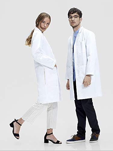 Dr. James Professionally Designed Unisex Lab Coat - 39 Inch Length US-01-2XS by Dr. James (Image #1)