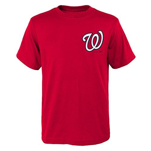 MLB Washington Nationals Youth Boys 8-20 Official Wordmark Tee-XL (18), Athletic (Washington Nationals Classic Shirt)