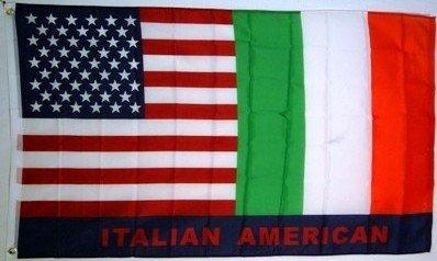 ITALIAN AMERICAN FLAG, 3'x5' Italy