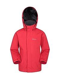 Mountain Warehouse Orbit Kids Jacket - Waterproof Spring Rain Coat Red 9-10 years