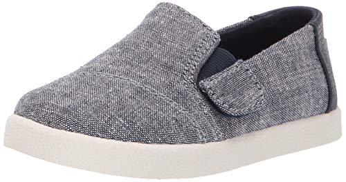 TOMS Baby Avalon Loafer Navy slub Chambray 9 Medium US Toddler -