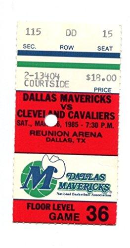 1985 Cleveland Cavs v Dallas Mavericks Ticket 3/16/85 Reunion Arena 35018