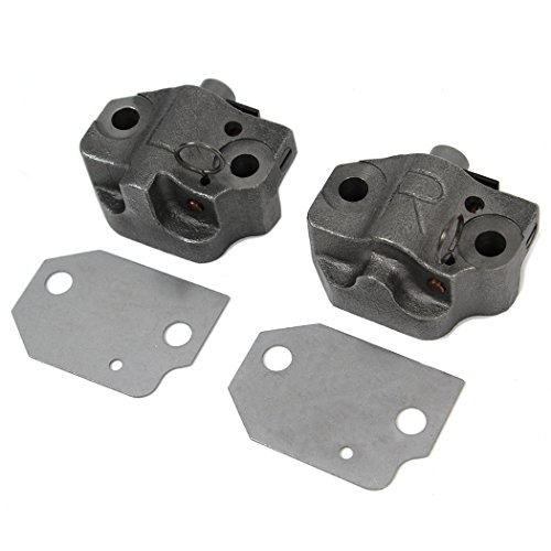 (T338K Brand New Timing Chain Tensioners Both Left & Right - Cast iron Original Ratchet Style)