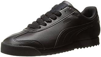 PUMA Men's Roma Basic Fashion Sneaker, Black/Black - 7 D(M) US