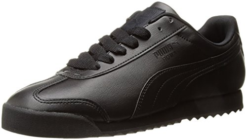 PUMA Men's Roma Basic Fashion Sneaker, Black/Black - 9 D(M) (Black Men Sneakers)