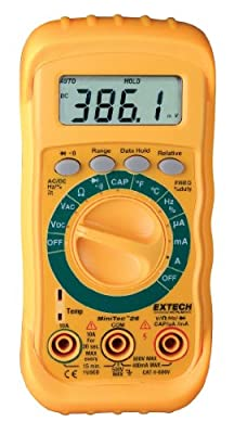Extech MN26V MiniTec Digital MultiMeter with Non-Contact Voltage Detector