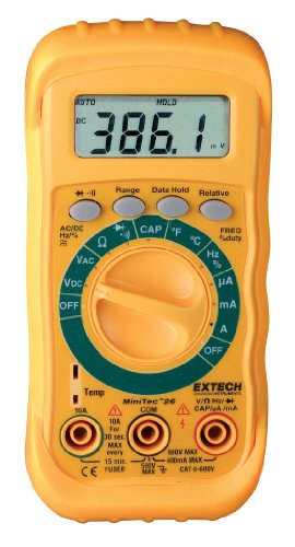 Extech MN26V MiniTec Digital MultiMeter with Non-Contact Voltage Detector ()