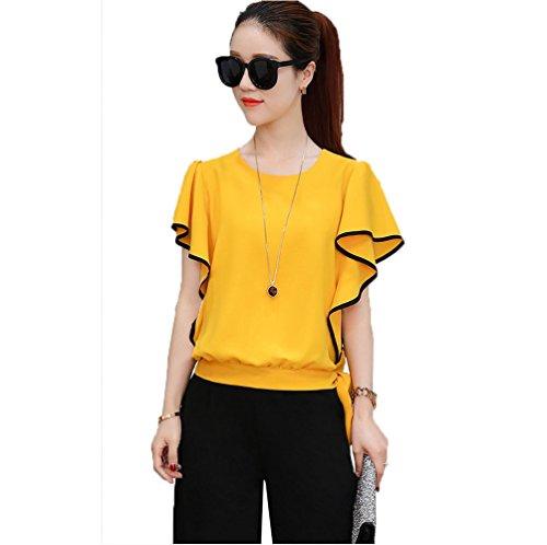 説教する帽子橋脚夏装新金女装韓国版ブームのゆったりとした2点セットのカジュアルスーツ7分ブレスパンツ