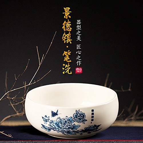 Yubao Pavilion study room four treasures suit Jingdezhen ceramic large antique pen washing by Unknown