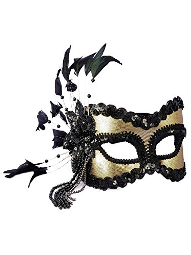 Forum Fantasy Half Mask, Gold, One Size ()