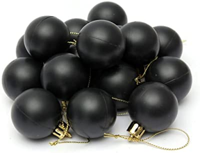 The Pecan Man Christmas Tree Decor Ball Bauble Hanging Party Home Ornament 40mm 16pcs (black)