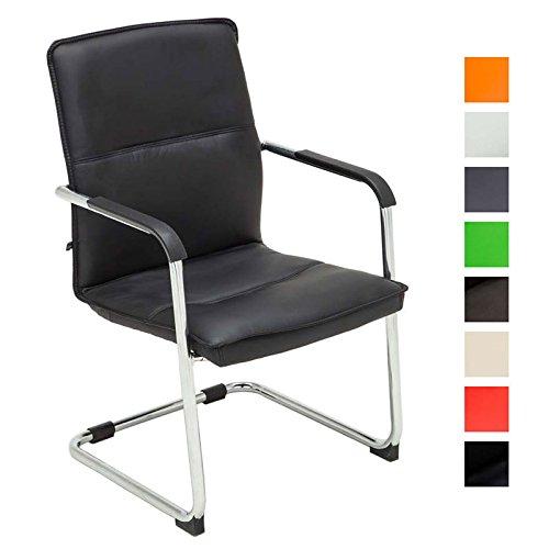7 opinioni per CLP Sedia cantilever SEATTLE con braccioli, sedia per ospiti / sedia per