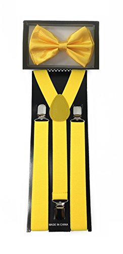 4everStore Unisex Bow Tie & Suspender Sets, -