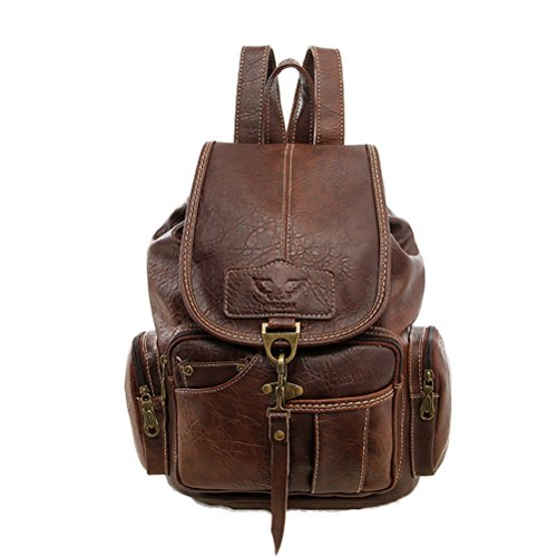Parties Outdoor brown Party Leather dark Hiking Look Small Backpack Clubbing for brown Travel Luggage backpack228 Mini Honeymall brown Hand fr Festivals A XwSaq7pq