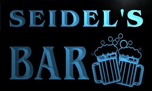 Iluminación de interior Cartel Luminoso w003898-b SEIDEL Name Home Bar Pub Beer Mugs Cheers Neon Light Sign Hogar y cocina
