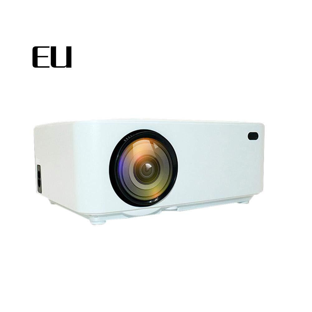 Househome Proyector, J6 Mini LCD Proyector LCD Mini de 4000 Lumen, Multimedia Home Cinema Video Proyector Portátil de Apoyo 1080P HDMI USB Tarjeta TF VGA AV para Teatro en Casa TV Juego 8d1bcd