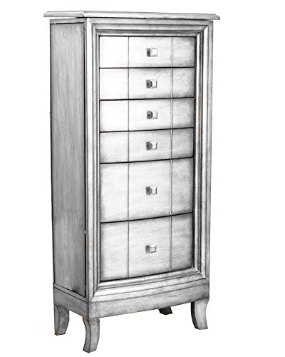 - Hives and Honey 2005-371 Jewelry Armoire, Silver