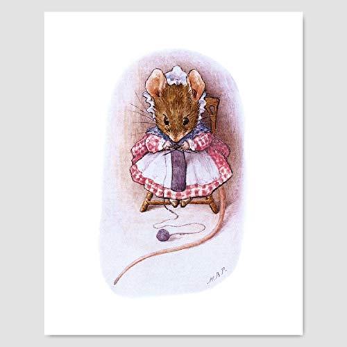 Beatrix Potter Print (Girls Nursery Art, Peter Rabbit Wall Decor)