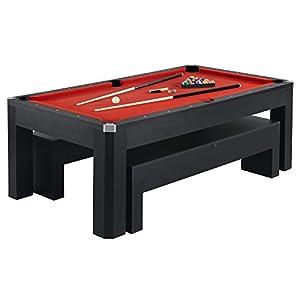 Hathaway Park Avenue Billiard Pool Table Combo Set, 7 Feet