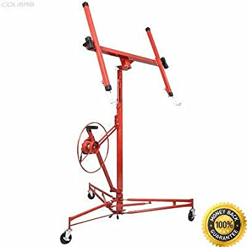COLIBROX-- 11\' Drywall Lift Panel Hoist Dry Wall Jack Rolling Caster ...