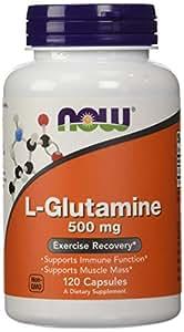 NOW Foods L-Glutamine 500mg, 120 Capsules,