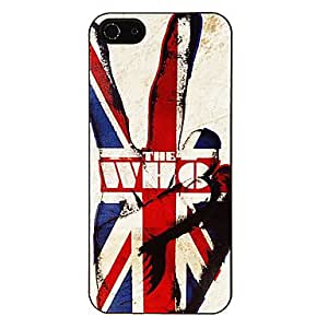 JJEStrong Man in the Union Jack Pattern Aluminous Hard Case for iPhone 5/5S