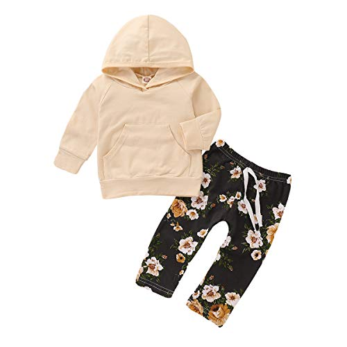 Set Cotton Floral Legging (Newborn Baby Boy Clothes 2pcs Toddler Outfit Floral Long Sleeve Hoodie Tops Pants Leggings Clothes Set)