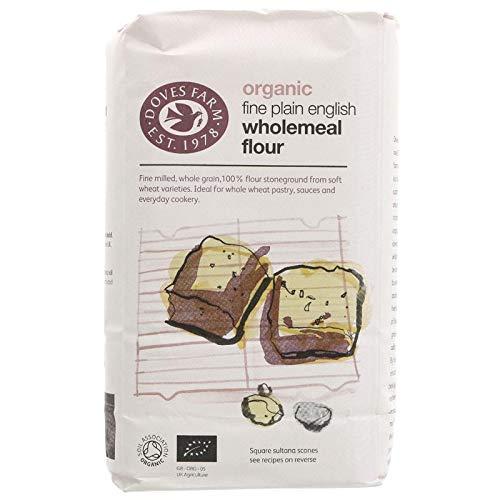 Doves Farm - Organic Fine Plain English Wholemeal Flour - 1Kg ()